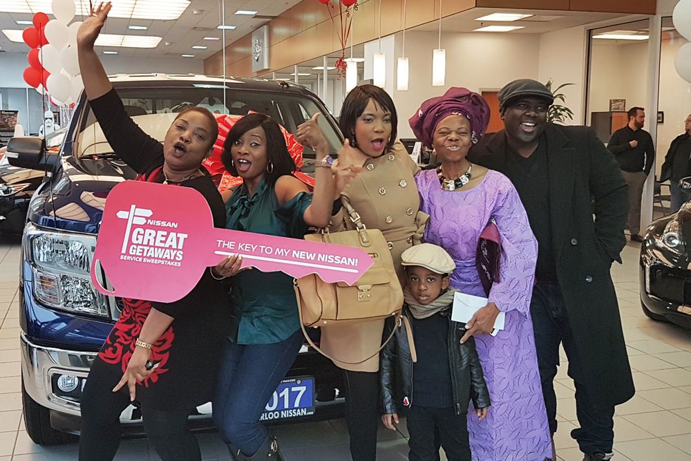 Eniola and her family picking up her new 2017 Nissan Titan!